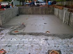 October 20th 2012 - Spreading out the concrete!