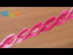 3D Crochet Braid Twisted Ribbon Tutorial 45 Crochet Around Post - YouTube