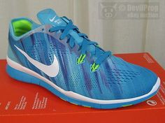 wholesale dealer 4dd5d e61ef NIB NIKE Free 5.0 TR Fit 5 Print Lace-Up Training Shoes US 7.5 Blue