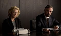 Cate Blanchett and Andrew McFarlane in Truth.