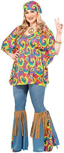 68bb1d37901 Forum Novelties Women s Plus-Size Hippie Chick Plus Size Costume