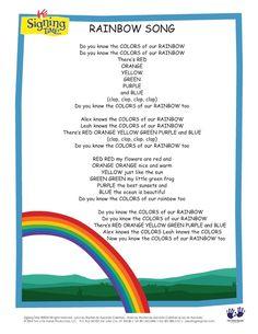 Rainbow Song lyrics