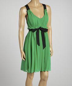 Another great find on #zulily! Gabby Skye Green & Black Sleeveless Dress by Gabby Skye #zulilyfinds