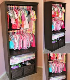 Repurpose a Bookcase for the Little One's Clothes Storage