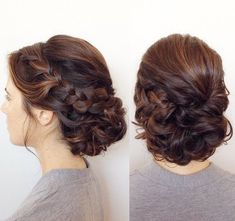 Quince Hairstyles, Cool Braid Hairstyles, Fancy Hairstyles, Bride Hairstyles, Hairdo Wedding, Bridal Hair Updo, Bridal Hair And Makeup, Hair Makeup, Up Dos For Medium Hair