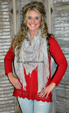 Grey Plaid Blanket Scarf Save 10% by using promo code GUGREPBRITT at checkout! www.gugonline.com