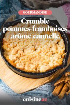 Ce crumble pommes-framboises arôme cannelle est un dessert aux fruits facile à préparer. Dessert Aux Fruits, Mashed Potatoes, Grains, Rice, Ethnic Recipes, Food, Apple Cakes, Food Porn, Recipes