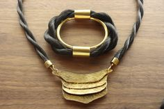 Braided Horse Hair Bangle and Necklace. Elizabeth Knight Jewelry