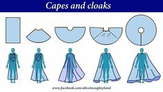 Sewing Techniques Couture Capes and cloaks Diy Clothing, Sewing Clothes, Clothing Patterns, Sewing Patterns, Cape Sewing Pattern, Dress Sewing, Costume Patterns, Pattern Fabric, Fabric Design
