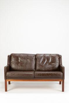 Kai Lyngfeldt Larsen Leather Settee