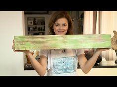 Trasferimento immagine con acetone su legno shabby chic (solvente per unghie) DIY IMAGE TRANSFER - YouTube