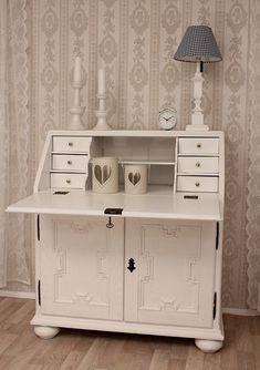 sekret r albert braun landhaus shabby chic massiv. Black Bedroom Furniture Sets. Home Design Ideas