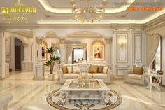 Salon design d'intérieur impressionnant style français à Saigon - NTKP 021