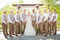 Show me your groom/groomsmen in a tan/beige suit. - Weddingbee