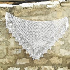 A delicate Knitted wedding shawl of mohair. by Shawlbyrostovskaya