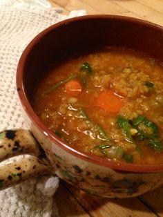 *********red lentil soup ~vegan, gluten free~