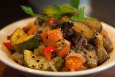Wok de verduras con sésamo