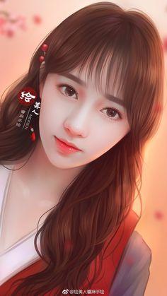 Beautiful Fantasy Art, Beautiful Anime Girl, Beautiful Asian Girls, Anime Angel Girl, Anime Art Girl, Lovely Girl Image, Girls Image, Cute Girl Face, 3d Girl
