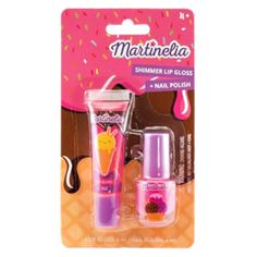 Martinelia Yummy Giftset Σετ Lip gloss 6ml Nail Polish 4ml Lip Gloss, Nail Polish, Lips, Drawings, Nail Polishes, Polish, Gloss Lipstick, Manicure, Nail Polish Colors