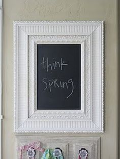 Would be perfect in our entryway for cute little messages. My Vinyl Direct, Chalkboard Vinyl, Chalkboards, Paint Ideas, Mudroom, Projects To Try, Frames, Entryway, Shabby