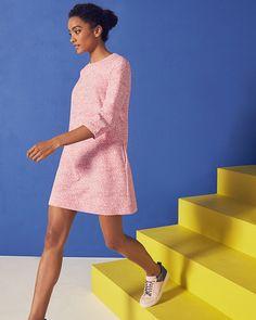 Fish print shift dress - Coral | Dresses | Ted Baker UK