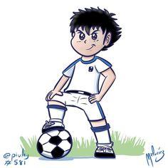 Oliver Atom  Captain Tsubasa.  Oliver Benji los magos del balón.  #oliver #benji…
