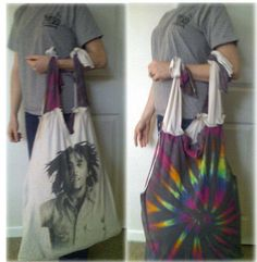 Go Green - Make a Grocery Tote from T-Shirts