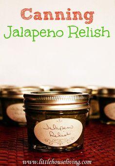 Jalapeno Relish Yields 14 quarter pints ◾24 large jalapenos ◾3 medium onions ◾3 cups vinegar ◾3 cups water ◾2 tbsp sea salt ◾2 tsp cumin ◾2 tbsp sugar. ◾disposable rubber gloves