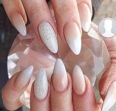 - The most beautiful nail designs Gem Nails, Shellac Nails, Nail Manicure, Hair And Nails, French Manicure Short Nails, French Acrylic Nails, Accent Nails, Bridal Nails, Wedding Nails