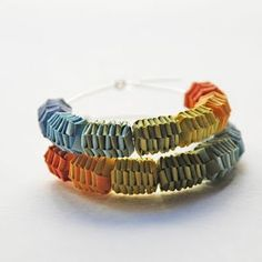 recycled paper bead jewelry
