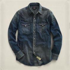 Navy Denim Shirt by Ralph Lauren. Buy for $265 from Ralph Lauren