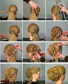 cute updo instructions - Google Search