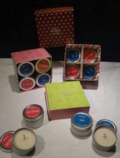 16- 2oz. Tin Cans of Ergo Soy Candles Cherry Blossom & Linen Scent #Ergo
