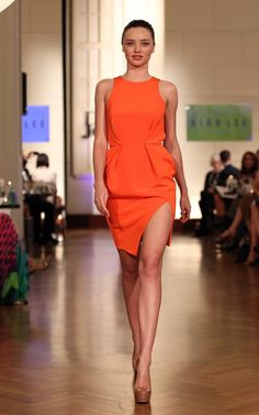 orange david jones minidress