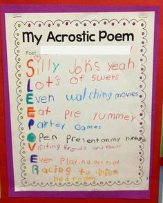 acrostic poem ideas These christmas acrostic poems are examples of acrostic poetry about christmas these are the best examples of acrostic christmas poems.