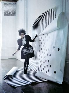 Tim Walker. FINDS THE DALMATIONS  Vogue Italia  a play of dots  september 2009
