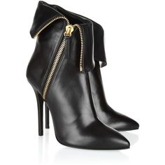 Giuseppe Zanotti Folded leather ankle boots ❤ liked on Polyvore