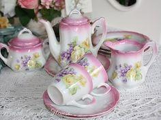 Antique Pink children's dishes