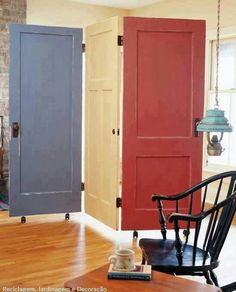 Use scrap doors as room dividers or privacy...