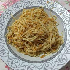 Spaghetti con polpa di ricci