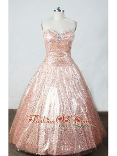 Brand New Ball Gown Sweetheart Neck Floor-Length Watermelon Beading Little Girl Pageant Dresses- $143.59