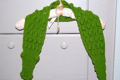 Child's Alligator scarf 100 merino wool green by MyBabyKnits, $20.00