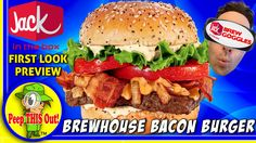 Jack In The Box® | Brewhouse Bacon Burger First Look Preview! Peep THIS ...