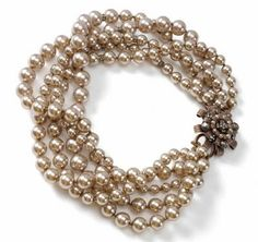 beautiful cocoa pearls...I want some that look like this but don't cost this much! :)