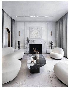 Glamour Living Room, Living Room Grey, Living Room Sofa, Home Living Room, Interior Design Living Room, Living Room Designs, Living Room Decor, Monochromatic Living Room, Unique Sofas