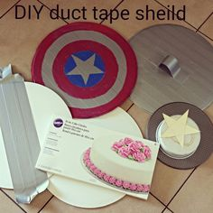 Make your own Captain America shield for about 2 dollars and it lasts a super long time! My son loves this!