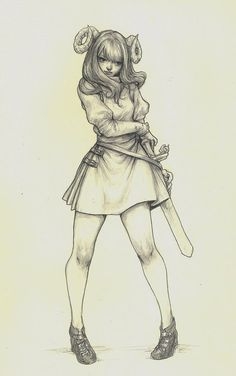 Eterna  Original Pencil and Ink Drawing by jasmindarnell on Etsy, $80.00