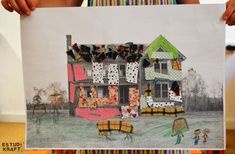 Collage. Join us on www.facebook.com/estudikraft 12 Year Old, Art Lessons, Crafts For Kids, Workshop, Join, Collage, Facebook, Projects, Painting
