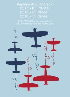Airplane+Decal+Plane+Pack+Medium++AddOn+for+Initial+by+SignJunkies,+$34.95