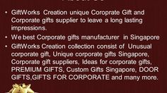 Corporate gift in singapore